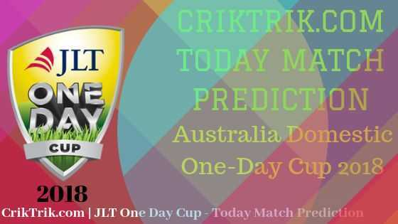 jlt one day cup 2018 today match prediction