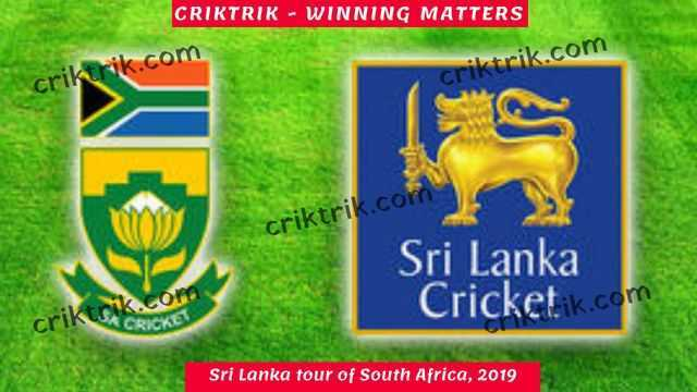 Sri Lanka tour of South Africa, 2019