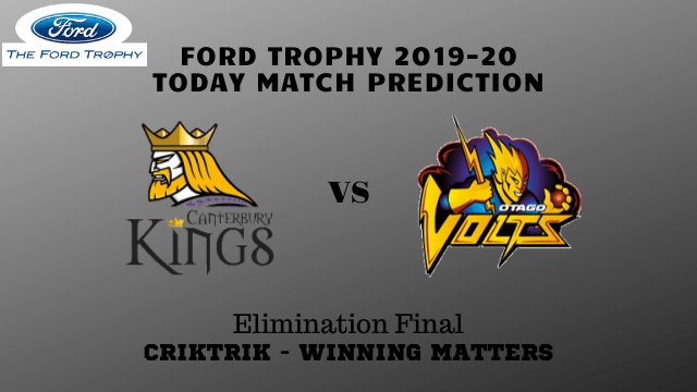 can vs otg prediction elimination final Ford Trophy 2019 20 - Canterbury vs Otago Today Match Prediction - Elimination Final, Ford Trophy 2019-20