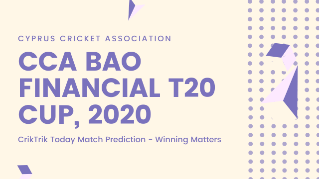 CCA BAO Financial T20 Cup 2020 - CTL Eurocollege CC vs Cyprus Moufflons CC Today Match Prediction - 12/7/2020